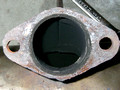 Close-up of Left Muffler Flange